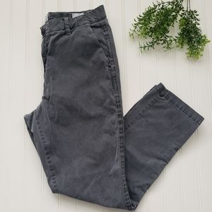 Gap Gray High Rise Girlfriend Chino Pants size 8